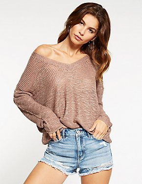 Bar Back V-Neck Sweater
