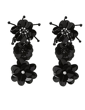 Crystal Floral Drop Earrings