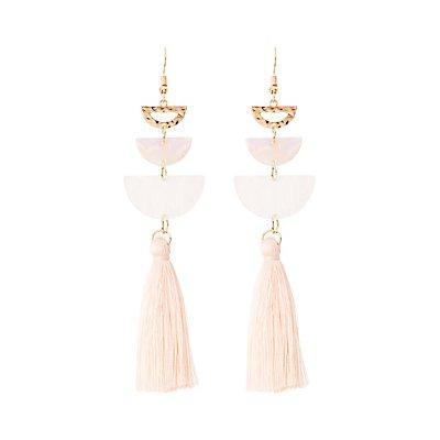 Half Moon Tassel Drop Earrings