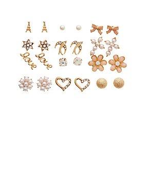 Assorted Stud Earrings - 12 Pack