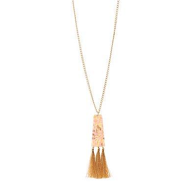 Triangle Fringe Pendant Necklace