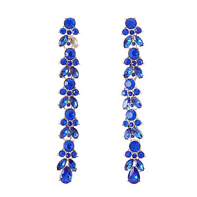 Cascading Rhinestone Drop Earrings