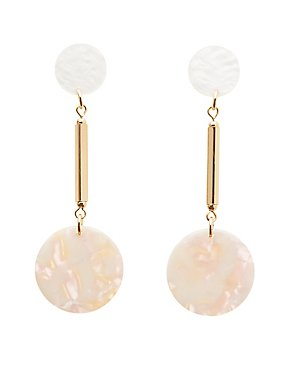 Disk Drop Earrings