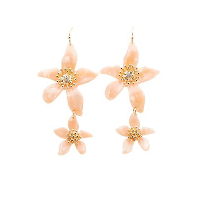 Crystal Floral Drop Earrings by Charlotte Russe
