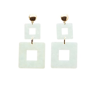 Geometric Resin Drop Earrings