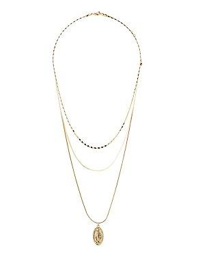 Coin Multi Chain Necklaces