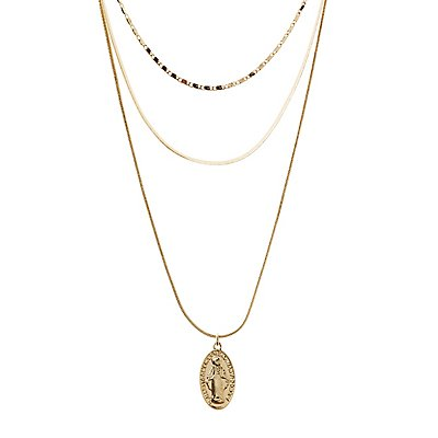 Coin Multi Chain Necklaces