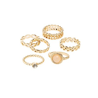 Stackable Bangle Bracelets - 6 Pack