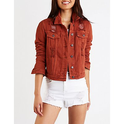 Refuge Destroyed Denim Jacket