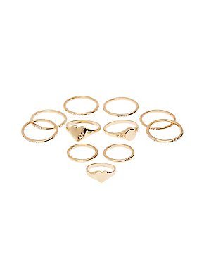 Crystal Stacking Rings - 11 Pack