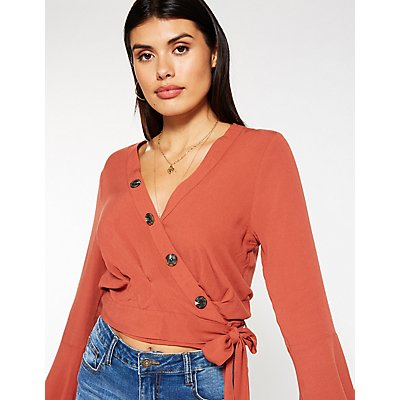 Button Up Wrap Top