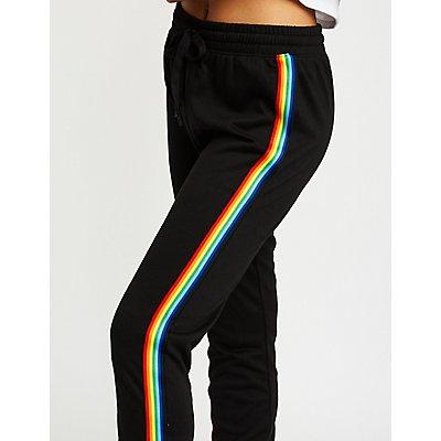 Rainbow Side Stripe Jogger Pants