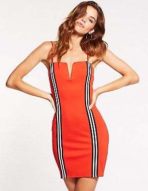 Racer Stripe Bodycon Dress