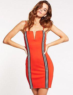 Racer Stripe Bodycon Dress
