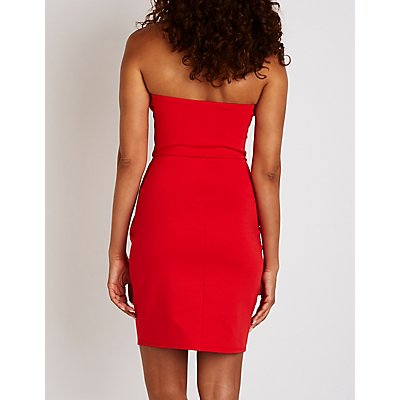 Wired V-Neck Bodycon Dress