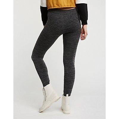 Marled Fleece Lined Leggings