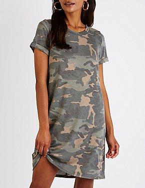 Camo T Shirt Dress