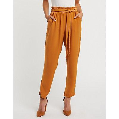 High Rise Paperbag Pants