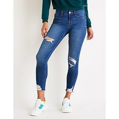 Refuge Destroyed Skin Tight Legging Jeans