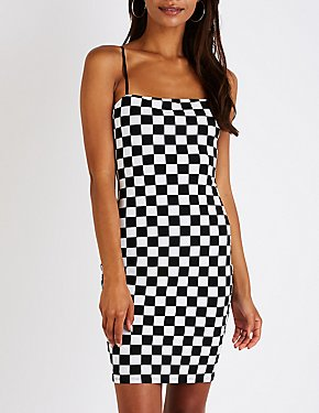 Checkered Bodycon Dress