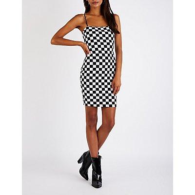 Checkered Bodycon Dress