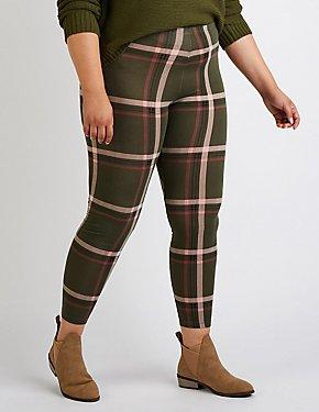Plus Size Plaid Leggings