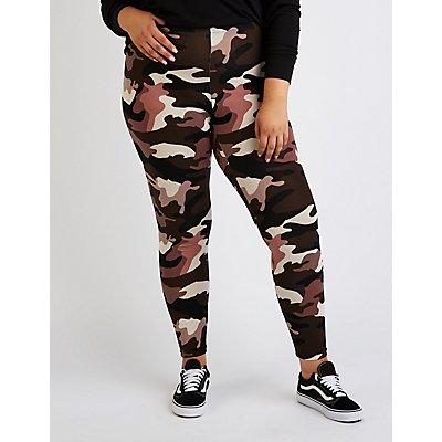 Plus Size Camo Leggings