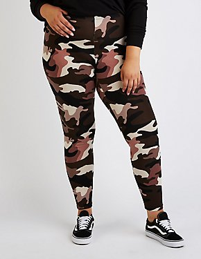 Plus Size Camo Leggings