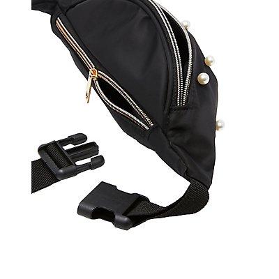 Faux Pearl Belt Bag