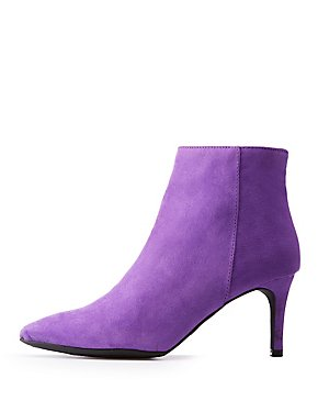 Bamboo Pointed Toe Booties