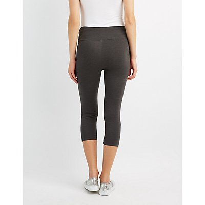 Hi Rise Cropped Leggings