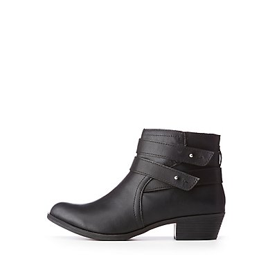 Bamboo Double Harness Ankle Booties