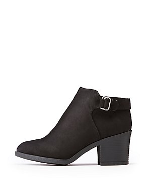 Bamboo Side Buckle Ankle Booties