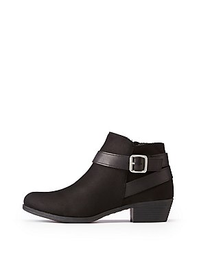 Bamboo Harness Ankle Booties