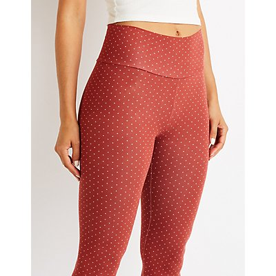 Polka Dot High Waist Leggings