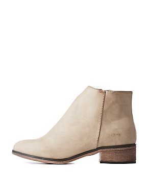 Bamboo Zip Ankle Booties