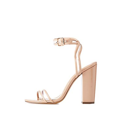 Ankle Strap Block Sandals