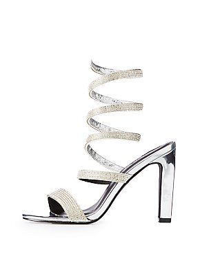 Crystal Wrap Open Toe Sandals
