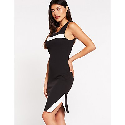 Striped Detailed Bodycon Dress