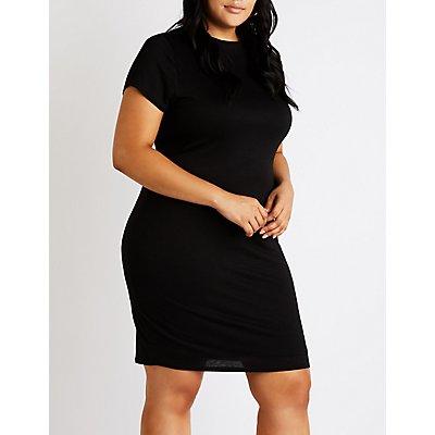 Plus Size Bodycon Mini Dress | Tuggl
