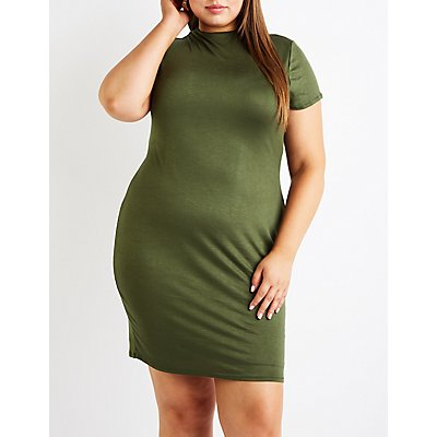 Plus Size Bodycon Mini Dress