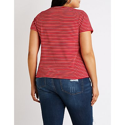 Plus Size Striped Chill Out Tee