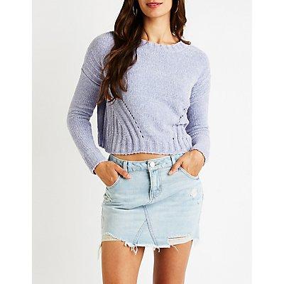 Crop Pullover Sweater