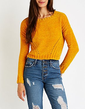 Crop Pullover Sweater