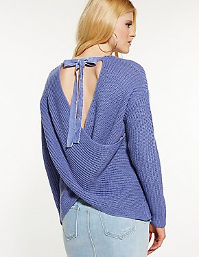 Wrap Pullover Sweater