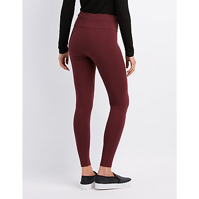 High Waist Stretch Cotton Leggings
