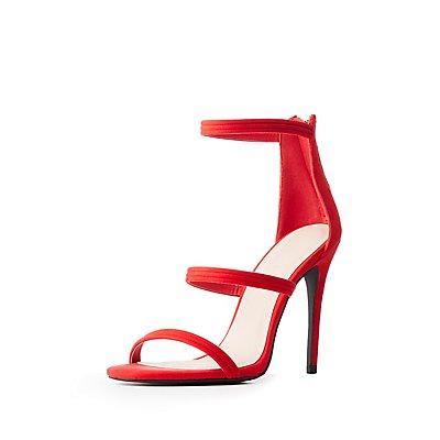 Caged Stiletto Sandals