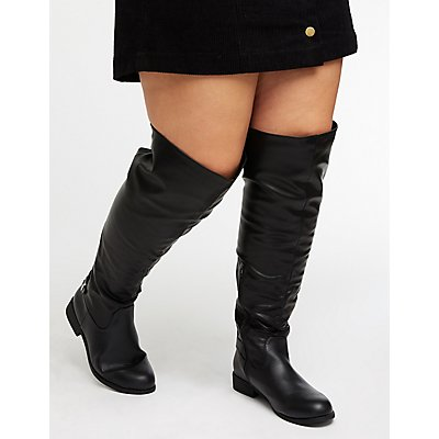 Wide Over The Knee Boots