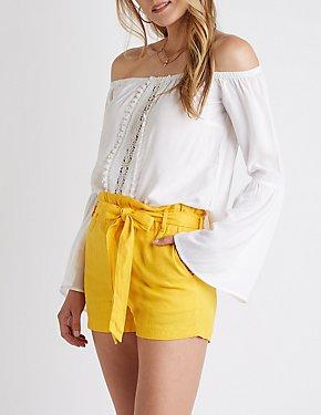 Crochet Inset Bell Sleeve Top