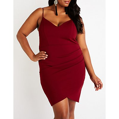 Plus Size V-Neck Bodycon Dress